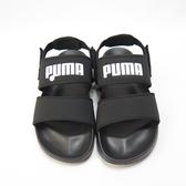 PUMA LEADCAT YLM LITE 涼鞋 寬鞋帶 37073301 黑白【iSport愛運動】