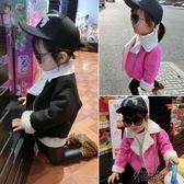 女童冬裝時尚上衣兒童洋氣女童女大童冬款加厚外套