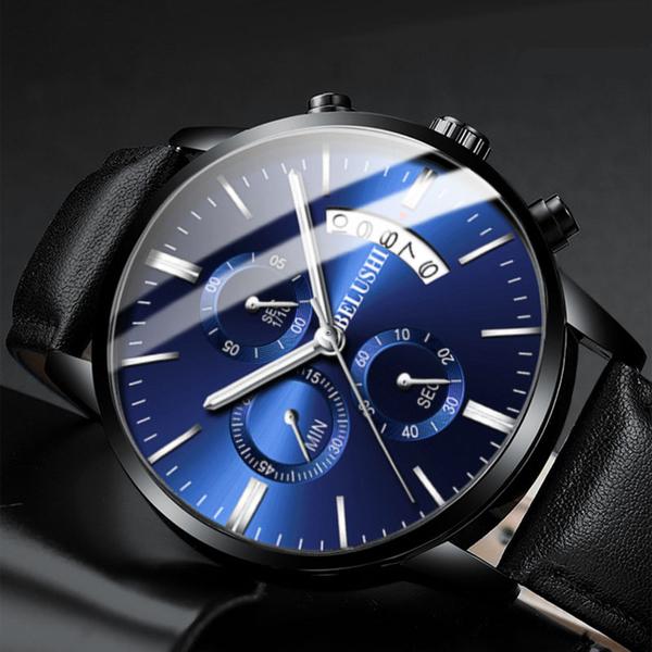 流行男錶 手錶 男士休閒石英鋼帶錶防水時尚潮流夜光皮帶男錶 【降價兩天】