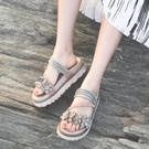 拖鞋 拖鞋女夏外穿新款韓版涼拖鬆糕鞋學生...