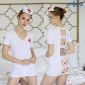 情趣內衣超級性感透視緊身包臀護士裝極度誘惑露背激情套裝制服SM【店慶滿月好康八折】
