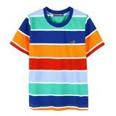 『小鱷魚童裝』亮彩條紋上衣(02號~06號)535407