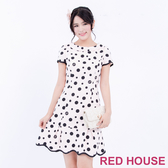 【RED HOUSE 蕾赫斯】大小圓點波浪洋裝(共2色)