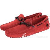 TOD'S FOR FERRARI GOMMINO 麂皮豆豆休閒鞋(紅色) 1620003-54