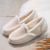豆豆鞋 豆豆鞋正韓女鞋2019新款冬保暖棉鞋學生懶人瓢鞋百搭加絨毛毛鞋 喜樂屋