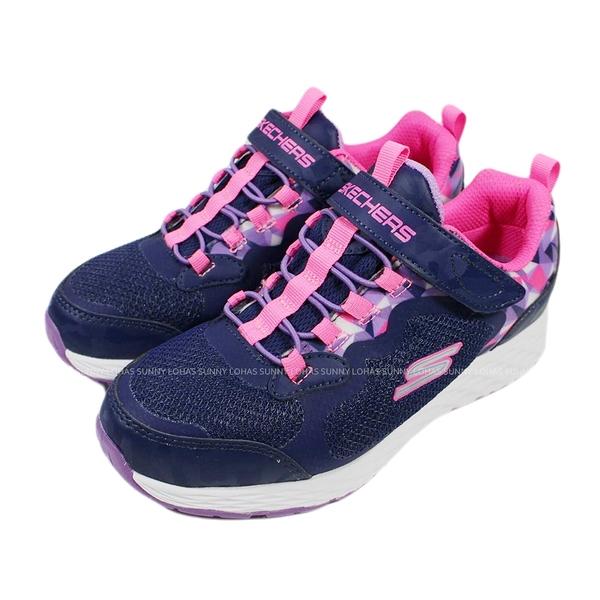 (BX) SKECHERS 女童鞋 TREAD LITE 防水鞋 休閒鞋 運動鞋 魔鬼氈302418LNVY紫 [陽光樂活]