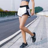 618好康又一發夏新款防走光運動短褲女帶里襯寬鬆速干透氣彈力假兩件健身跑步褲