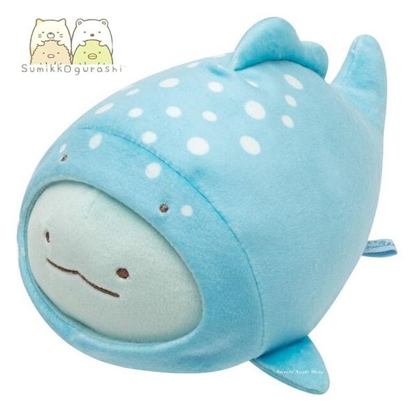 日本限定 角落生物 海洋世界 鯨鯊版 玩偶娃娃16cm