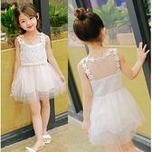 無袖洋裝 韓版腰間珍珠蕾絲蓬蓬裙 S77007