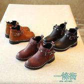 兒童靴子女童短靴公主皮靴馬丁靴棉靴