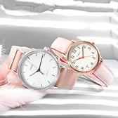 TIMEX 天美時 / TXTW2R70400 / 美國品牌 極簡風格 INDIGLO專利冷光照明 真皮手錶 白x粉 39mm