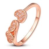 戒指 925純銀 鑲鑽-愛心設計生日情人節禮物女飾品2色73dx69【時尚巴黎】
