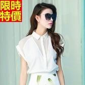雪紡衫-純色氣質清新時尚短袖襯衫 8色67w15【巴黎精品】