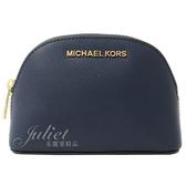 茱麗葉精品【全新現貨】MICHAEL KORS Jet Set Travel 萬用包/化妝包.軍藍 小款