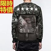後背包-粗曠龐克風暗黑系列骷髏頭雙肩男包包67j43【巴黎精品】