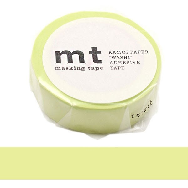 日本mt Masking Tape 和紙膠帶 淡草綠色 15mm