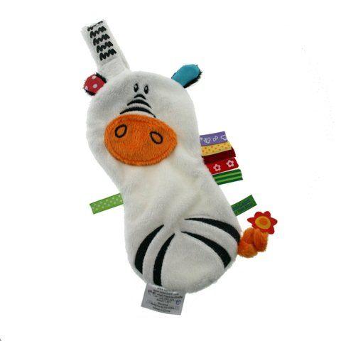 【出清優惠】比利時LABEL LABEL 奶嘴鏈安撫巾 - 假日系列 - 斑馬(戒奶嘴及長牙的好幫手)