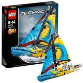 樂高積木樂高機械組42074賽艇LEGOTECHNIC積木玩具xw