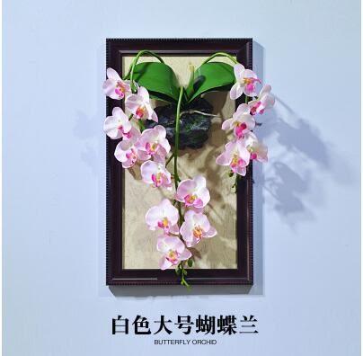 歐式模擬花套裝高檔假花奢華客廳牆上壁掛牆壁掛飾餐廳牆面裝飾品   A款大號款