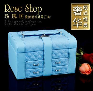 首飾盒 歐式木質公主高檔帶鎖復古飾品盒首飾收納盒大珠寶盒禮品