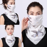 防曬三角絲巾護頸口罩女開騎車面紗遮陽