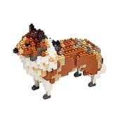 【Tico微型積木】動物狗系列-可麗牧羊犬 T-9404