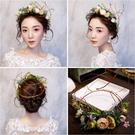 限定款鳥語花香森林公主花環 羅門影樓新娘造型森系花環婚紗頭飾髮箍154719