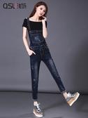 吊帶褲牛仔背帶褲女春秋2020新款韓版顯瘦減齡可愛寬鬆網紅森女系九分褲