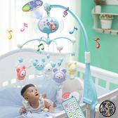 新生兒寶寶床鈴0-1歲 嬰兒玩具音樂旋轉床頭鈴掛件3-6-12個月搖鈴 ~黑色地帶