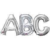 16吋銀色字母鋁箔氣球(不含氣)-A到Z