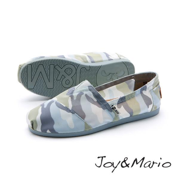 【Joy&Mario】迷彩印花休閒平底鞋 - 61638W LT BLUE