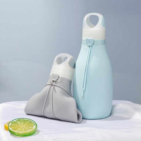 食品級硅膠運動水壺水杯防摔保溫旅行戶外跑步健身便攜可摺疊水袋 格蘭小鋪