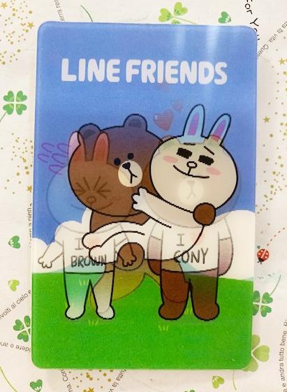 【震撼精品百貨】LINE FRIENDS 熊大~3D卡片貼紙*84339