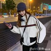棒球外套 外套女高級范ins春秋今年流行女裝工裝夾克寬鬆韓版鹽系上衣 開春特惠