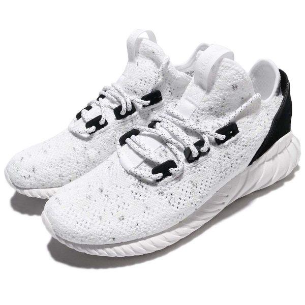 e819a17cd adidas 休閒鞋Tubular Doom Sock PK 白黑Primeknit 編織鞋面小V2 男鞋 ...
