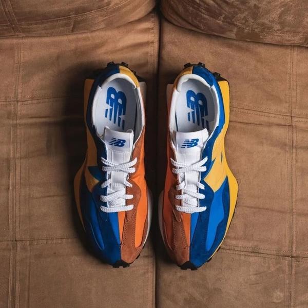 IMPACT New Balance 327 日系 復古 慢跑鞋 橘 藍 黑 灰 粉 MS327LAA WS327CPA