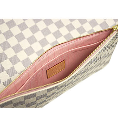 茱麗葉精品 全新精品 Louis Vuitton LV N41605 NEVERFULL MM 白棋盤格紋子母束口購物包.中(預購)