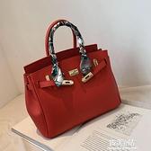 紅色包包女手提新娘包時尚結婚新款潮大容量大氣凱莉包斜背包 韓美e站