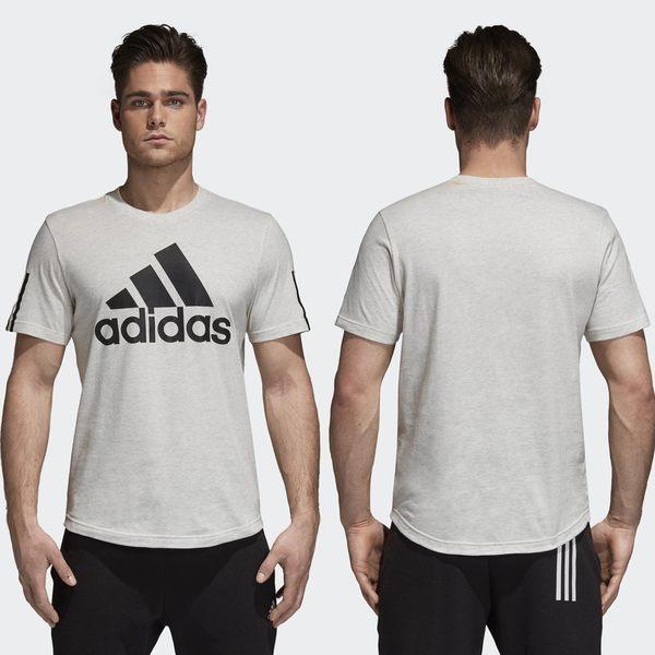 【GT】Adidas 黑灰 短袖T恤 運動 休閒 訓練 純棉 素色 上衣 短T 愛迪達 基本款 圓弧下擺 Logo