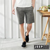 【JEEP】休閒度假印花短褲-深灰色
