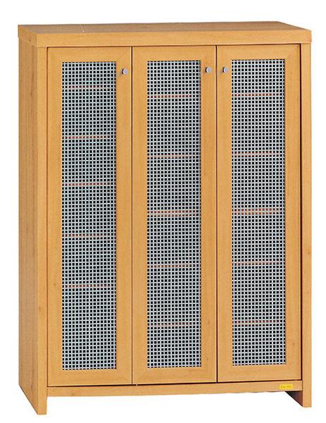 [ 家事達] OA-919-1 伊莉詩山毛櫸色三門鞋櫃 已組裝 限送台中市/苗栗/彰化/南投縣市