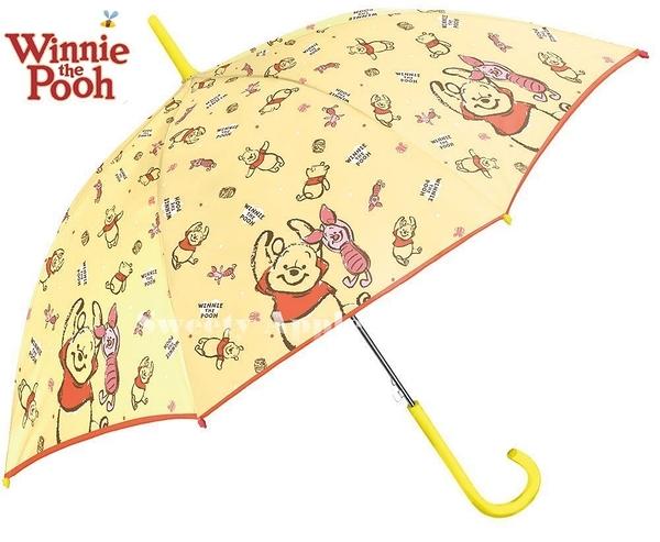 日本限定 迪士尼 小熊維尼 & 小豬 直立式 雨傘