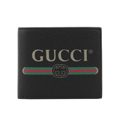 【GUCCI】GG PRINTLOGO8卡對開短夾(綠紅) 496309 0GCAT 8163