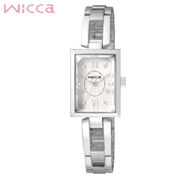 WICCA 星辰副牌 長型白色特殊切割鏡面手環錶 BE1-011-11 公司貨 | 高雄名人鐘錶