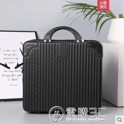 復古手提箱子小行李箱女化妝箱16寸密碼箱小型輕便迷你主圖款