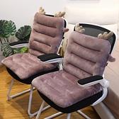 坐墊 連體坐墊靠墊一體辦公室久坐椅子座墊超軟椅墊四季汽車學生通用女【快速出貨八折鉅惠】
