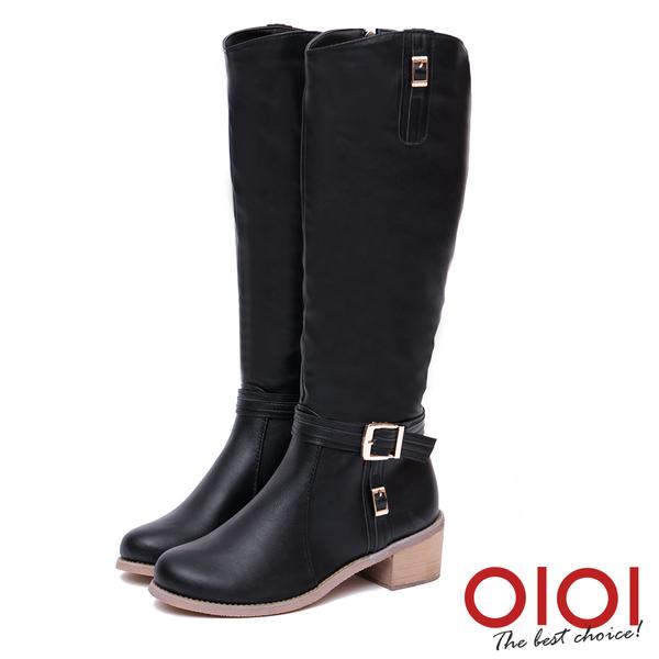 長靴 魅力焦點皮帶釦率性長筒靴(黑) *0101shoes【18-1705bk】【現貨】