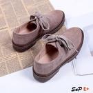 娃娃鞋 單鞋 粗跟  百搭帆布 小皮鞋 復古英倫風 女鞋