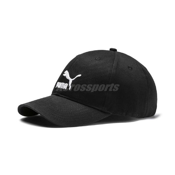 Puma 帽子 ARCHIVE Logo BB cap 黑 白 男女款 老帽 【ACS】 02204801