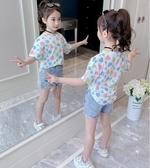 女童上衣 女童短袖T恤2020夏季新款兒童洋氣草莓印花上衣小學生時 交換禮物